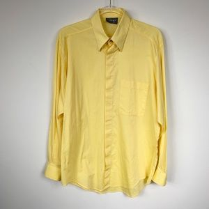 Versace Classic V2 Vintage Yellow Button Down